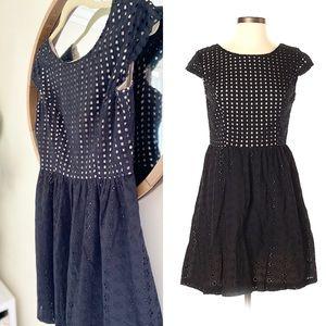$5 SALE | Xhiliration Eyelet Fit Flare Dress (78)